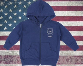 Toddler Police Zip-Up Hoodies