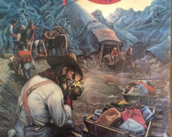 Vintage 1970s Levis Mining Poster