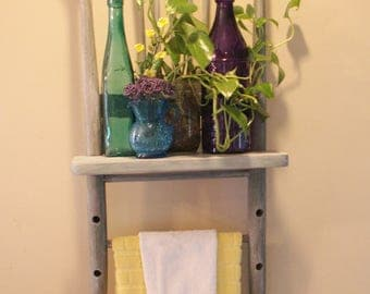 Antique Chair Transformed Into Shabby Chic Shelf