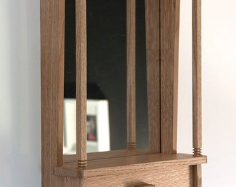 NOOK mirror shelf & cabinet ~ natural