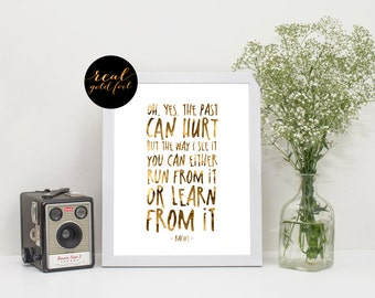 Lion King Quote, Disney Quote, Real Gold Foil Print
