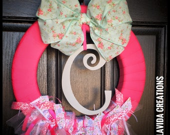 Baby Announcement Wreath - Pink