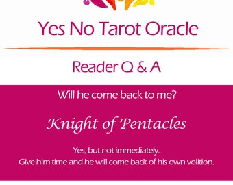 Yes No Tarot Oracle Reading