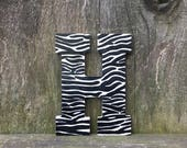Zebra print letters, zebra wall art, zebra decor, nursery animal print, animal print, safari animal print, nursery letters, zebra print