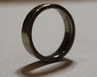 "State Coin Ring ""Mississippi"" Quarter Handcrafted"