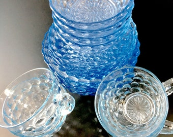 Anchor Hocking Blue Bubble dishes for 4 Entertaining