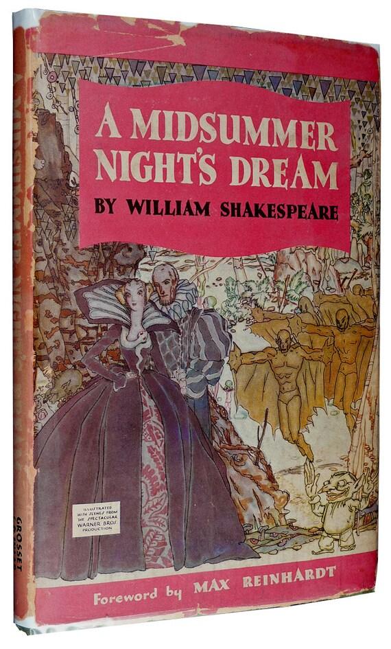 A Midsummer Night's Dream William Shakespeare Grosset HC DJ 1935 Movie Tie-In