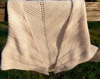 Knit Cream Shawl