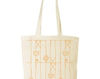 tote bag with silkscreen print