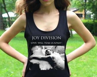 Joy Division T shirt Joy Division Tank Top Love Will Tear Us Apart Lady Post Punk Tee Shirt Punk Shirts Women Tee Shirts