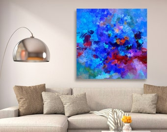 Abstract Art Print, Giclee Print of an Original Abstract Minimalist Oil Painting, Abstract Wall Art,  Large Abstract Art as Wall Decor