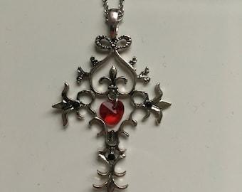 Vampire Diaries Cross Necklace