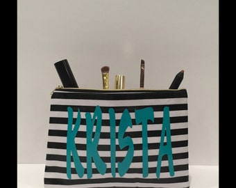 Personalized Cosmetic Bag, Custom Makeup Bag, Gift for Her