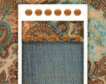 Blue Paisley  Cardstock Frame My Mind's Eye This & That Scrapbook  Embellishments Cardmaking Crafts