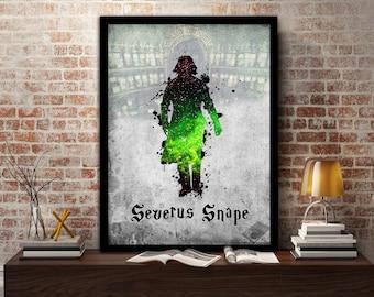 Severus,Snape, Print, Poster, Fan Art, Harry Potter, Half Blood Prince, Slytherin, Hogwarts, Always, Teacher, Potions, Dark Arts