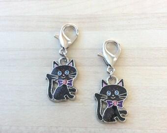 Lot de 2 adorables chats marqueurs amovibles pour votre tricot ou crochet