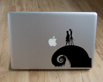 Nightmare Before Christmas decal, Jack Skellington and Sally decal for laptop, car, macbook, wall 70