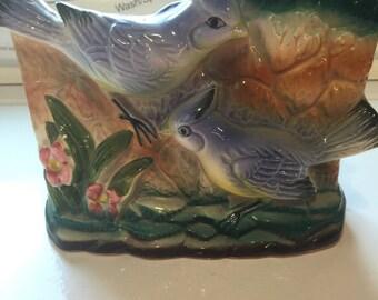 Vintage Blue Jay pocket vase