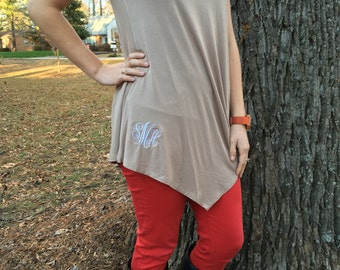Basic Tunic Top Short Sleeve V-neck