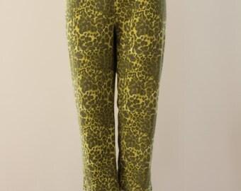 Leopard Print Leggings (Bright Yellow/Black)