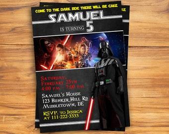 Star Wars Invitation, Darth Vader Invitation, Star Wars Birthday, Star Wars Invite, Party, Printables, Custom