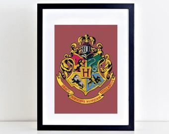 Hogwarts Gryffindor, Harry Potter Vector Print