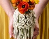Mason Jar | Macrame 32 oz. Mason Jar / Floral Vase