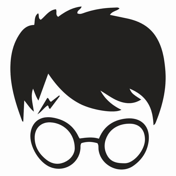 Vinyl Decal Sticker - Harry Potter Face decal inspired by Harry Potter for Windows, Cars, Laptops, Macbook etc