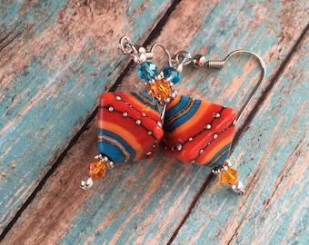Southwest Earrings Southwestern Earrings, Southwest Jewelry, Dangle & Drop Earrings, Southwestern SRA Lampwork Beads
