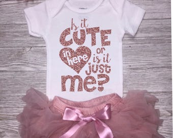 Baby Girl Clothing |  Baby Shower Gift | Take Home Outfit | Rose Gold Outfit | New Baby Girl Gift  |  Gift Set | Cute Baby Girl Outfit