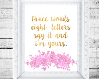 Three Words Eight Letters Printable - Gossip Girl