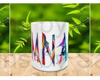 Colorful GYMNAST MUG - GYMNASTICS - gymnast mug - gymnast -  sports mug