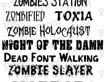 Zombie Font Collection