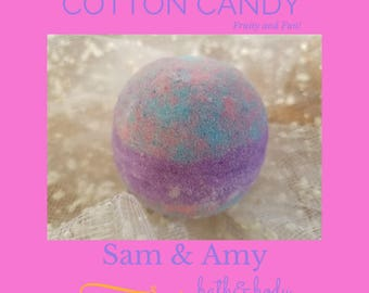 Bath Bomb- Bath Bombs - Cotton Candy - Cotton Candy Bath Bomb - Bath Fizzie - Spa - Essential Oil - Gifts for Her - Bride - Mothers Day