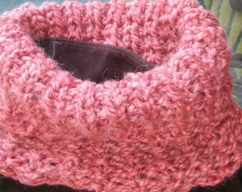 Super Bulky Knit Dusty Coral Cowl