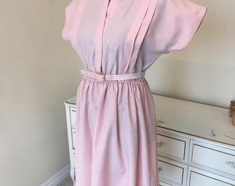 St Michaels 70s dress in light pink sz small