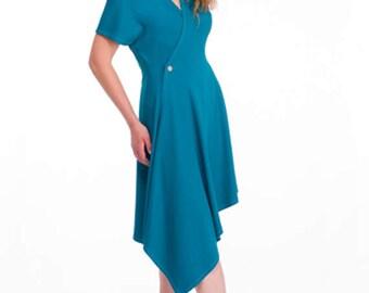 SALE - Williams Button Wrap Dress