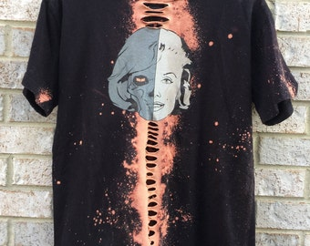 Bleached and Distressed Dead Marilyn Monroe T-Shirt