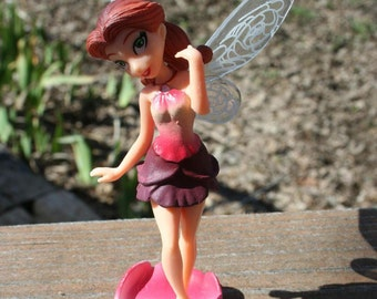 Tinkerbell cake topper tinker bell fairy cake topper friend Rosetta fairy garden figurine terrarium decoration
