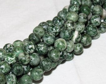 10MM TREE GREEN Agate / gemstone