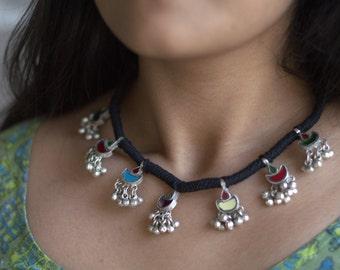 Bohemian silver necklace