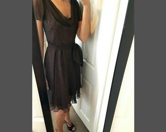 Vintage Badgley Mischka Silk Dress
