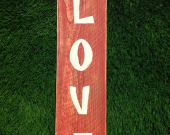 Distressed Red LOVE Sign