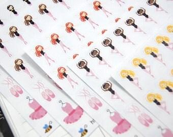 Ballerina/Ballet Planner Stickers // ECLP // Erin Condren // Happy Planner // Plum Paper Planner // Recollections // TN // Ringbound