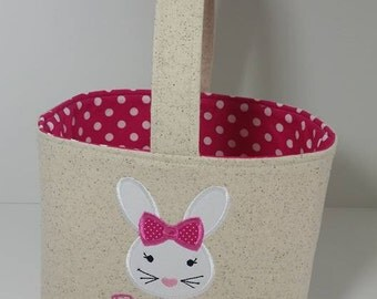 Personalized Easter Basket, Bunny Easter Basket