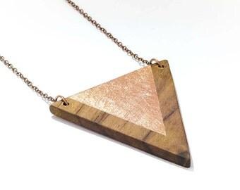 Trailer triangle wood copper