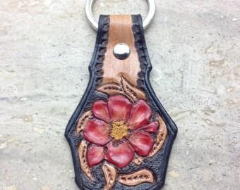 Leather handmade keyfob