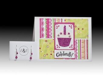 Cupcake Birthday and Earrings Gift