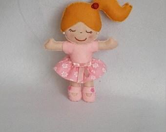 Pink favor felt doll