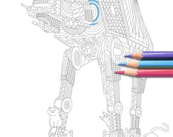 The (c)at-(c)at - Star Wars Colouring Page